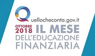 A OTTOBRE 2018 IL PRIMO MESE DELL'EDUCAZIONE FINANZIARIA