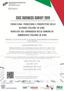 A MILANO LA PRESENTAZIONE DELLA CICC BUSINESS SURVEY 2019