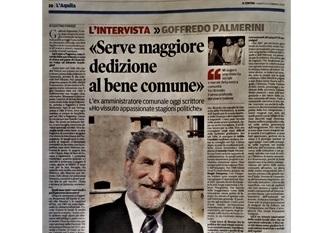 """""""SERVE MAGGIORE DEDIZIONE AL BENE COMUNE"""": """"IL CENTRO"""" INTERVISTA GOFFREDO PALMERINI"""