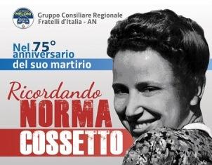 """""""IN RICORDO DI NORMA COSSETTO"""": A TRIESTE IL CONVEGNO PROMOSSO DA FRATELLI D'ITALIA - FVG"""