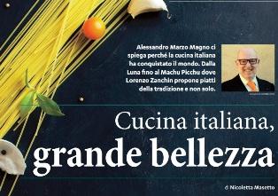 CUCINA ITALIANA, GRANDE BELLEZZA – di Nicoletta Masetto