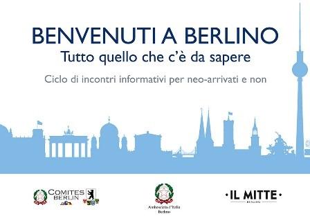 """BENVENUTI A BERLINO"": CICLO DI INCONTRI IN AMBASCIATA"