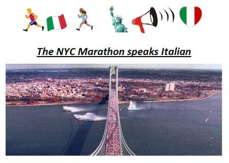 THE NYC MARATHON SPEAKS ITALIAN