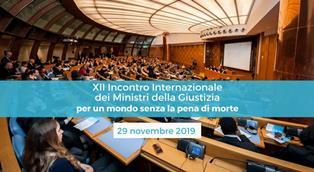 CONTRO LA PENA DI MORTE: A ROMA IL 12° INCONTRO INTERNAZIONALE DEI MINISTRI DELLA GIUSTIZIA PROMOSSO DA SANT'EGIDIO