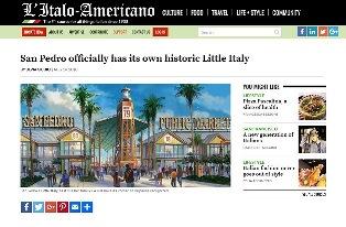 SAN PEDRO HA UFFICIALMENTE LA SUA HISTORIC LITTLE ITALY – di Silvia Giudici