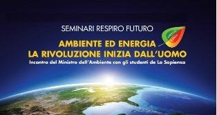 """""""AMBIENTE ED ENERGIA, LA RIVOLUZIONE INIZIA DALL"""