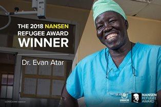 CHIRURGO DEL SUD SUDAN VINCE IL PREMIO NANSEN PER I RIFUGIATI DELL'UNHCR 2018