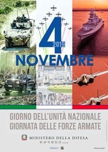 VERSO IL 4 NOVEMBRE 2019: GIORNO DELL'UNITÀ NAZIONALE E GIORNATA DELLE FORZE ARMATE