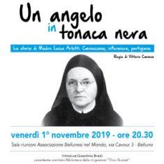 """""""UN ANGELO IN TONACA NERA"""": A BELLUNO IL DOCUFILM SULLA PARTIGIANA MADRE LUISA ARLOTTI"""