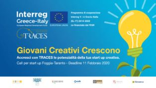 INTERREG TRACES: PARTITO IL PROGRAMMA DI INCUBAZIONE PER 25 START-UP CREATIVE PUGLIESI