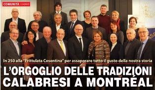L'ORGOGLIO DELLE TRADIZIONI CALABRESI A MONTRÉAL – di Vittorio Giordano
