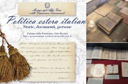 LA POLITICA ESTERA ITALIANA IN MOSTRA ALLA FARNESINA
