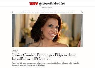 JESSICA CAMBIO: L'AMORE PER L'OPERA DA UN LATO ALL'ALTRO DELL'OCEANO - di Liliana Rosano
