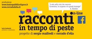 """TEATRI DEL PARADISO: NASCE ONLINE LA STAGIONE DEI """"RACCONTI IN TEMPO DI PESTE"""""""