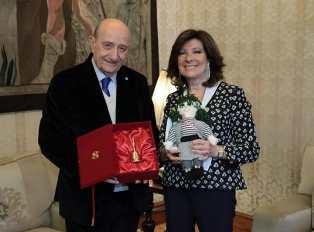 IL PRESIDENTE DEL SENATO ALBERTI CASELLATI INCONTRA IL PRESIDENTE DELL'UNICEF ITALIA SAMENGO