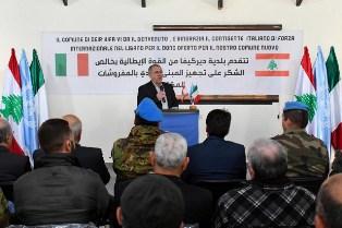UNIFIL: PROSEGUONO I PROGETTI DI COOPERAZIONE DEI CASCHI BLU ITALIANI IN LIBANO