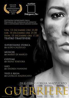 """""""GUERRIERE"""": LO SPETTACOLO DI GIORGIA MAZZUCATO DI SCENA A ROMA"""