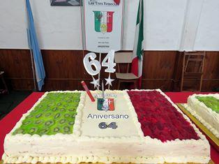A MAR DEL PLATA IL 64° ANNIVERSARIO DELLA SOCIETÀ ITALIANA LE TRE VENEZIE