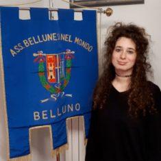 """GIULIA FRANCESCON INIZIA LA SUO SERVIZIO DI """"CIVILINA"""" AGLI UFFICI DELL'ASSOCIAZIONE BELLUNESI NEL MONDO"""