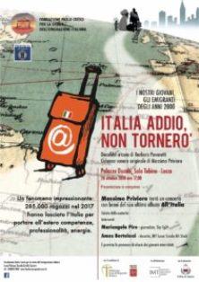 """""""ADDIO ITALIA, NON TORNERÒ"""": IL DOCUFILM DELLA FONDAZIONE PAOLO CRESCI"""