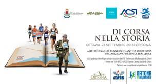 """ORTONA CHALLENGE: ABRUZZO E CANADA INSIEME """"DI CORSA NELLA STORIA"""""""